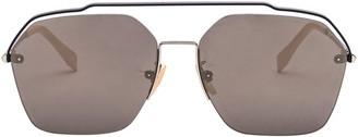 Fendi Eyewear Geometric Frame Sunglasses