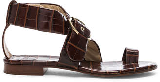 Chloé Two Strap Sandals in Hot Tan   FWRD
