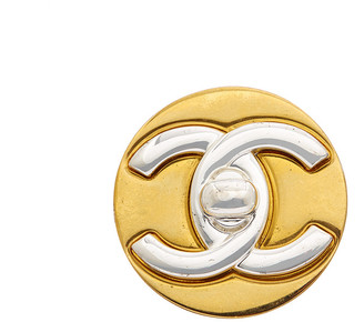 Chanel Two-Tone Cc Pin
