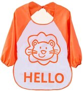 FEITONG Cute Kids Child Baby Cartoon Translucent Plastic Soft Baby Waterproof Bibs