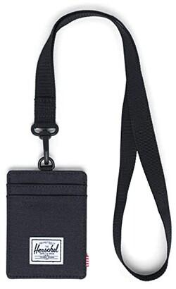 Herschel Charlie Wallet Lanyard RFID (Black Lanyard/Black) Wallet Handbags