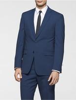Calvin Klein X Fit Ultra Slim Fit Blue Plaid Suit Jacket