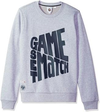 Lacoste Men's Long Sleeve Game Set Match Graphic Sweatshirt SH3346