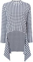 Rosetta Getty checked top - women - Cotton/Viscose - S
