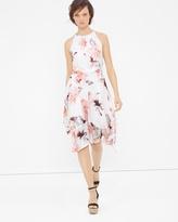 White House Black Market Floral Print Flare Dress