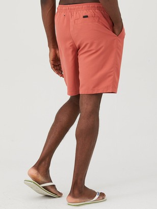 Basic Longer Length Swimshorts - Coral
