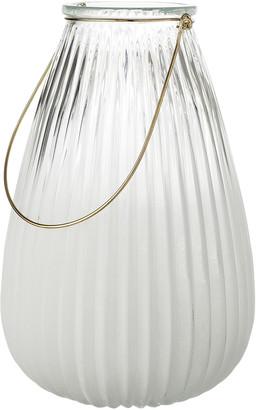 Bloomingville - White Glass Lantern - glass | white - White/White