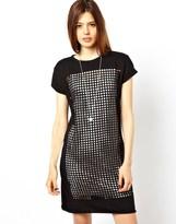 ASOS COLLECTION ASOS T-Shirt Dress With Laser Cut Squares