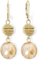 JCPenney MONET JEWELRY Monet Yellow Stone Gold-Tone Double-Drop Earrings