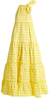 Marques Almeida MARQUES'ALMEIDA Halterneck gathered gingham maxi dress