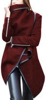 ClothingLoves Women's Solid Cotton Blends Long Trench Coats XX-Large