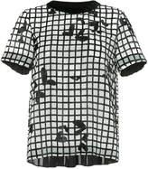 Sacai grid printed blouse