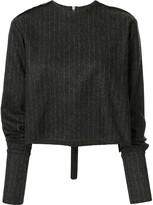 Yang Li pinstripe knitted top