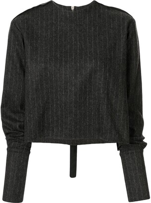 Yang Li Pinstripe Knitted Top