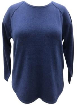 Karen Scott Plus Size Cotton Curved Hem Top, Created for Macy's