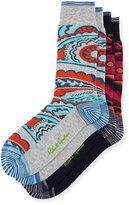 Robert Graham Two-Pair Floral-Print Sock Set