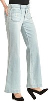 Gap Mid rise distressed flare jeans