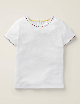 Boden Rainbow Trim T-Shirt