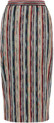 Missoni Striped Metallic Knitted Midi Skirt