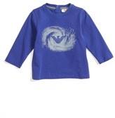 Armani Junior Infant Boy's Galaxy Logo Long Sleeve T-Shirt