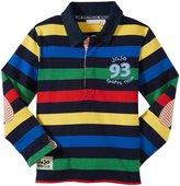 Jo-Jo JoJo Maman Bebe Striped Rugby Top (Toddler/Kid) - Navy-3-4 Years