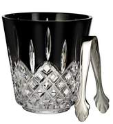 Waterford Lismore Black Ice Bucket with Tongs