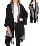 La Fiorentina Reverse Two-Tone Fringe Shawl (For Women)