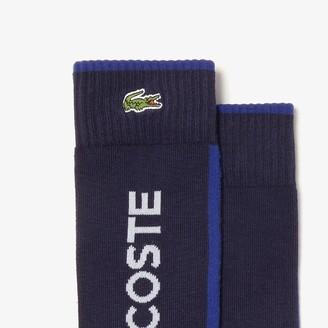 Lacoste Men's SPORT Striped And Logo Socks