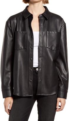 Treasure & Bond Faux Leather Shirt