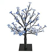 Camilla And Marc The Benross Christmas Workshop 45 cm 48 LED Blossom Tree, Blue/ White