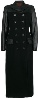 Jean Paul Gaultier Pre-Owned faux leather long coat