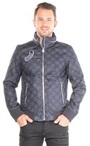 G Star Men's New Fallden Bomber Jacket in RFTO 01 Denim Allover Print