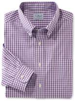 L.L. Bean L.L.Bean Wrinkle-Free Pinpoint Oxford Shirt, Traditional Fit Gingham