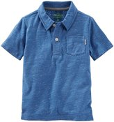 Osh Kosh Print Polo (Toddler/Kid) - Canvas Blue - 3T