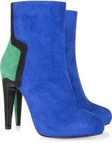 Pierre Hardy Color-block suede ankle boots