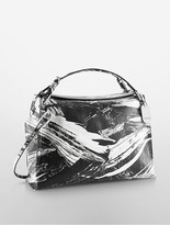 Calvin Klein Platinum Edged Brushstroke Leather Satchel