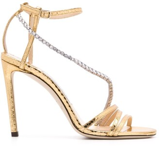 Jimmy Choo Thaia 100mm crystal-embellished sandals