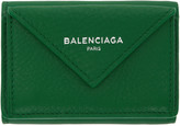 Balenciaga Green Mini Paper Wallet