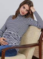 Isabella Oliver Arlington Striped Maternity Turtleneck