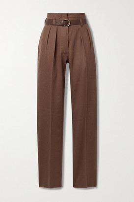 Giuliva Heritage Collection + Net Sustain The Gastone Pleated Camel Hair Straight-leg Pants - Brown