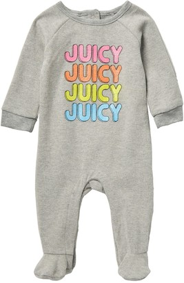 Juicy Couture Glitter Print Fleece Bodysuit (Baby Girls 0-9M)