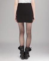 Maje Skirt - Textured Leather Mini
