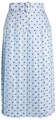 Rodarte Pleated Polka-Dot Skirt