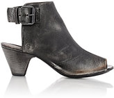 Marsèll Women's Distressed Peep-Toe Booties-BLACK