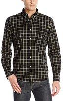 Steven Alan Men's Clashort Sleeve Collegiate Shirt Long Sleeve