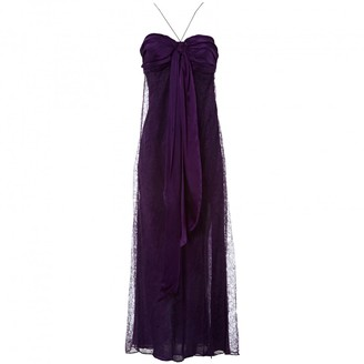 John Galliano Purple Silk Dress for Women