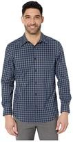 Perry Ellis Regular Fit Stretch Check Shirt (Bronze Brown) Men's Clothing