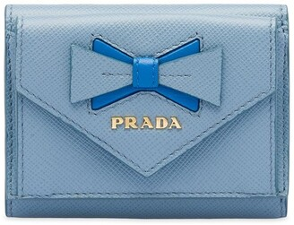 Prada Saffiano leather wallet with bow