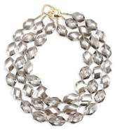 Kenneth Jay Lane Three Row Faceted Diamond Necklace