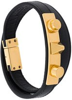 Saint Laurent 'Le Trous Clous' double wrap bracelet